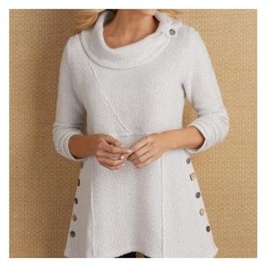 Soft Surroundings Breakwater Pullover Boucle Sz L